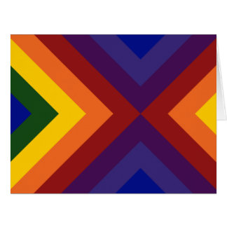 Rainbow Chevrons Thank You Card