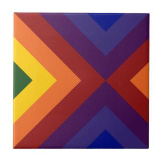 Rainbow Chevrons Tile