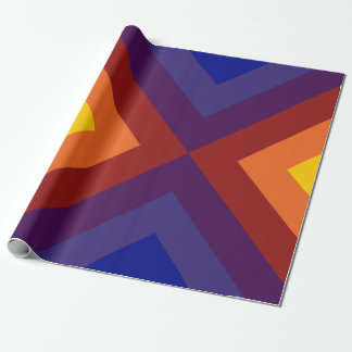 Rainbow Chevrons Wrapping Paper