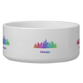 Rainbow Chicago skyline Bowl
