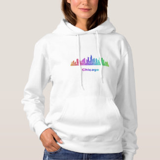Rainbow Chicago skyline Hoodie