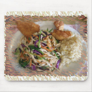 Rainbow Chicken Chinese Dinner Plate 6 Mouse Pad