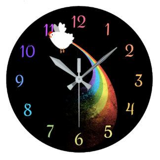 Rainbow Chicken Farts Clock