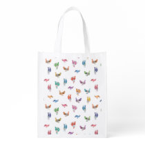 Rainbow Chicken Grocery Bag