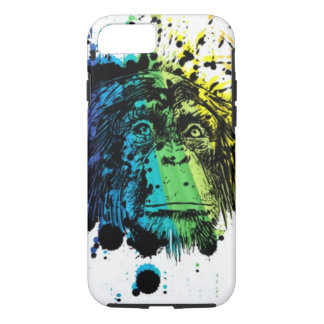 Rainbow Chimpanzee Abstract iPhone 7 Case