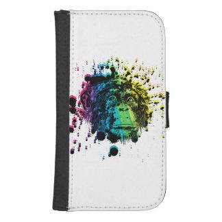 Rainbow Chimpanzee Galaxy S4 Wallet Case