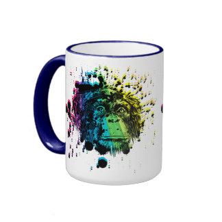 Rainbow Chimpanzee Coffee Mug