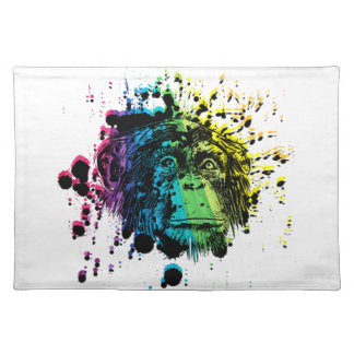 Rainbow Chimpanzee Placemat
