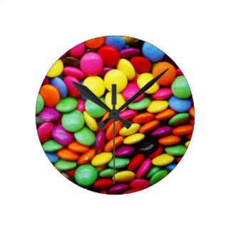 Rainbow Chocolate Candy Round Wall Clock