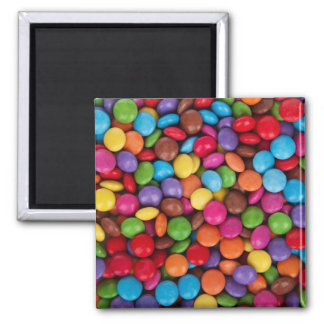 Rainbow Chocolate Candy Pattern Magnet