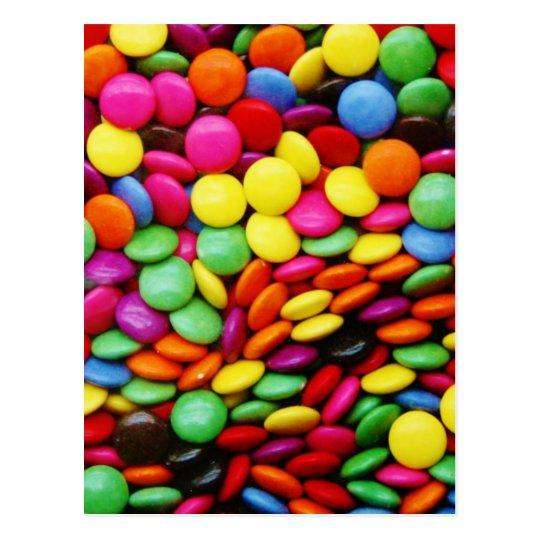 Rainbow Chocolate Candy Postcard