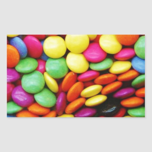 Rainbow Chocolate Candy Rectangular Sticker