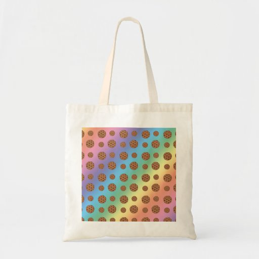 Rainbow chocolate chip cookies pattern bags