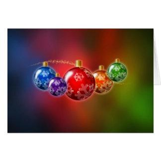 Rainbow Christmas Ornaments Card