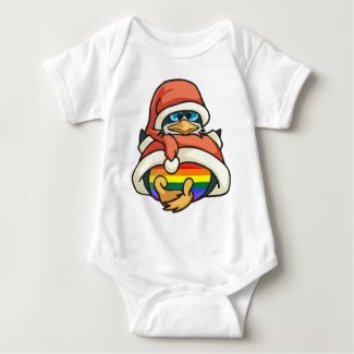 Rainbow Christmas Penguin Shirts