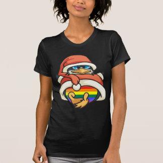 Rainbow Christmas Penguin T-shirts