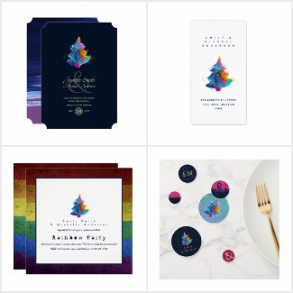 Rainbow Christmas Tree Party Collection
