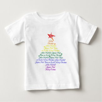 Rainbow Christmas Tree Tee Shirts