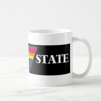 rainbow church triangle state (black) coffee mug