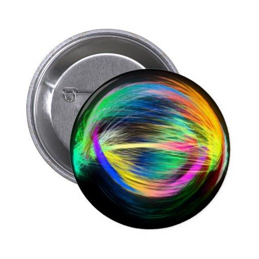 Rainbow Circle Pinback Buttons