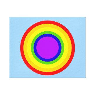 Rainbow Circle Canvas Artwork by JanLynn Canvas Prints