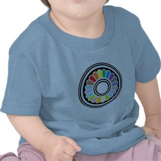 rainbow circle design tee shirts