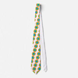 Rainbow Circle Neck Tie