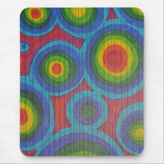Rainbow Circles - Abstract Pattern Mouse Pad