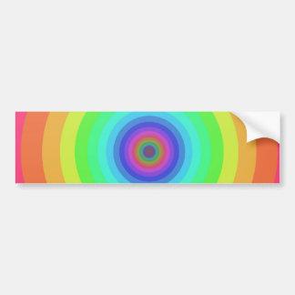 Rainbow circles bumper sticker