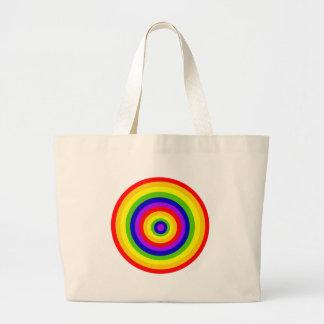 Rainbow Circles by JanLynn Large Tote Bag
