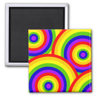 Rainbow Circles by JanLynn Magnet