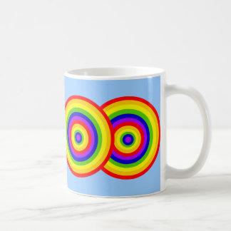 Rainbow Circles by JanLynn Coffee Mug