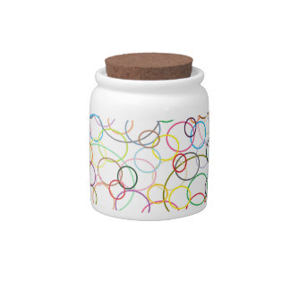 Rainbow Circles Candy Jar