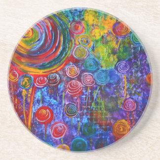 "Rainbow Circles ""Candyland"" Coaster"