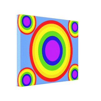 Rainbow Circles Canvas Artwork by JanLynn Canvas Print