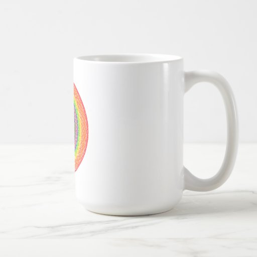 Rainbow Circles Coffee Mug