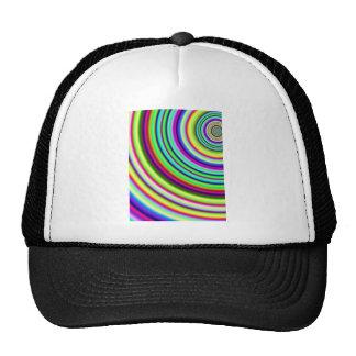 Rainbow Circles Fractal Art Trucker Hat