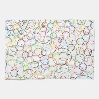 Rainbow Circles Kitchen Towel