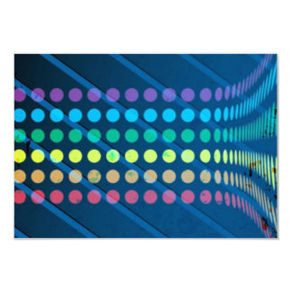 Rainbow Circles Layout over Blue Metal Card