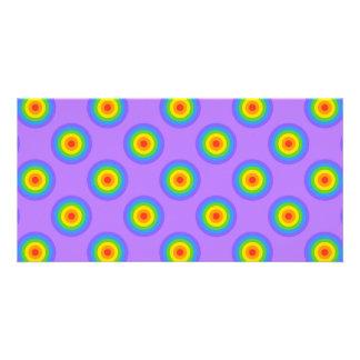 Rainbow Circles Pattern. Photo Card