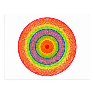 Rainbow Circles Postcard