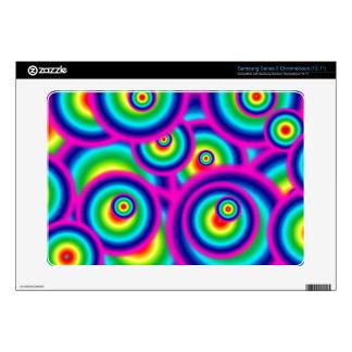 rainbow circles samsung series 5 chromebook samsung chromebook decal