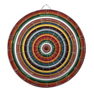 Rainbow Circles Template Blanc Blanche add TEXT Dartboards