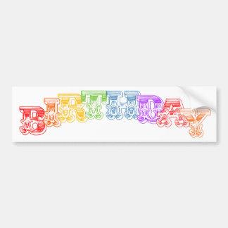 "Rainbow Circus Fun ""Birthday"" Boy or Girl Car Bumper Sticker"