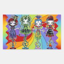 pixie, stick, fairy, rainbow, trixy, jinxsy, trolly, roxsy, circus, sideshow, troll, humor, kids, joker, childen, mykajelina, myka, Sticker with custom graphic design