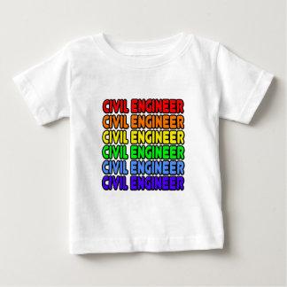 Rainbow Civil Engineer Baby T-Shirt