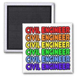 Rainbow Civil Engineer Fridge Magnet