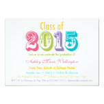 Rainbow Class of 2015 Graduation Party Invitation