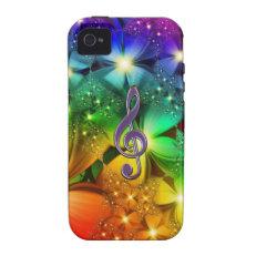 Rainbow Clef iPhone 4 Case