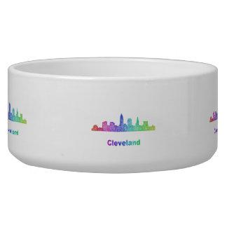 Rainbow Cleveland skyline Bowl